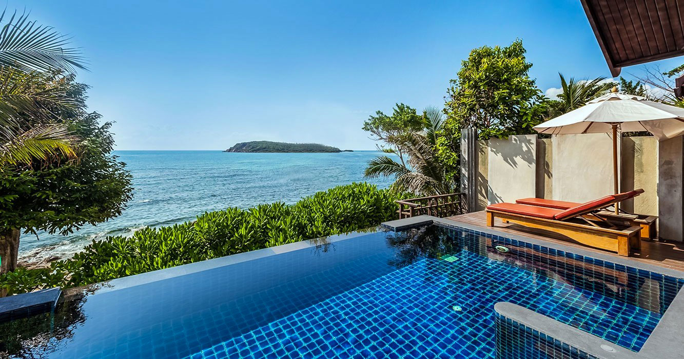 Pool villa beachfront seaview ko samui chaweng boutique for Garden pool villa outrigger koh samui