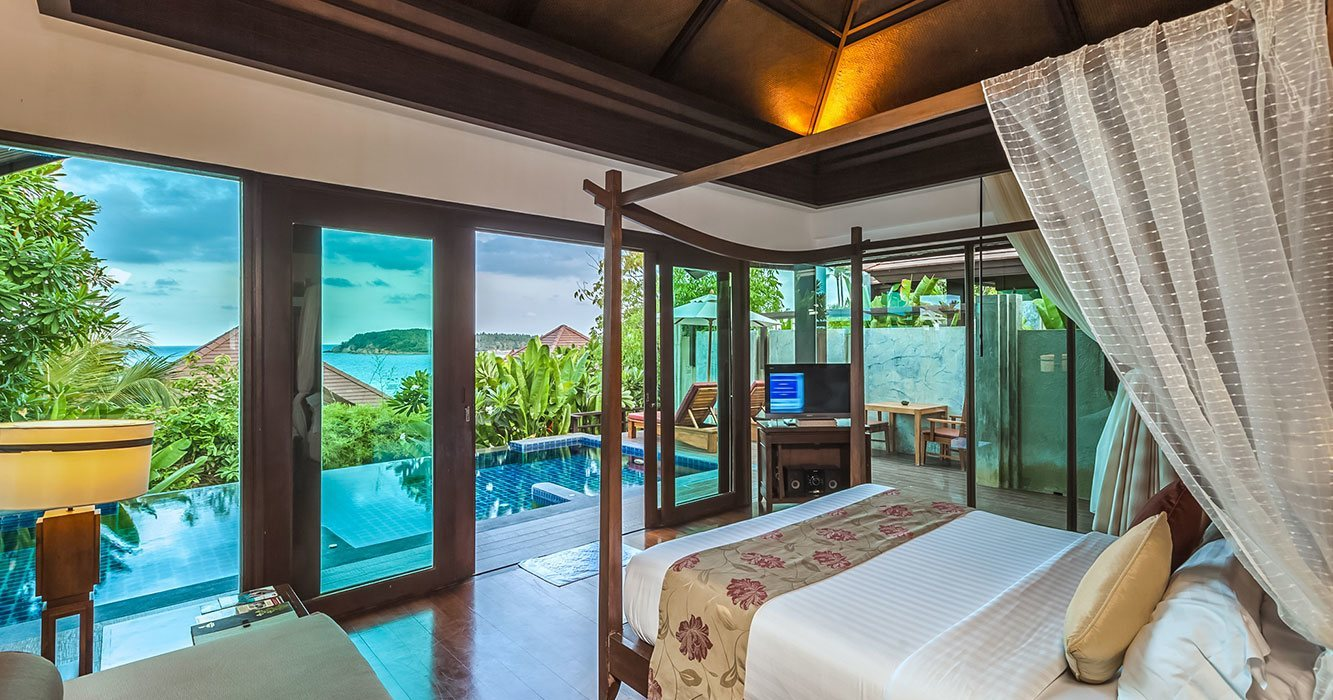koh samui beachfront pool villa