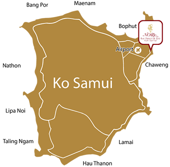 Samui Resort location map