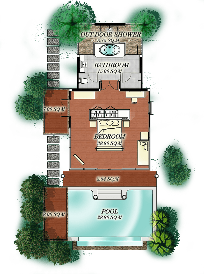 Deluxe Hillside Seaview plan